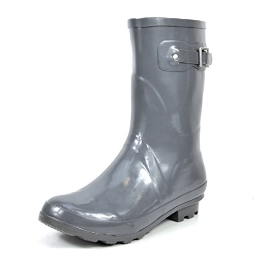 arctiv8 Women's Origin-Short Grey Gross Rubber Winter Snow Rainboots - 7 M US (Boots Winter Snow Rain)
