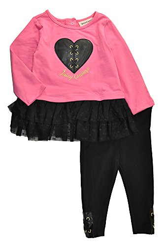 Couture Heart Juicy Girls - Juicy Couture Girls' Pink Tunic & Legging Set (6-9M)