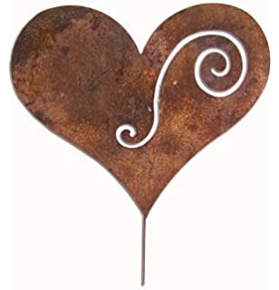 Heart Garden Stake / Garden Decor / Garden Art