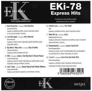 Easy Karaoke EK EKi-78 EKi78 Express Hits Karaoke Disc Charts 2013 by Best Song Ever - One ()