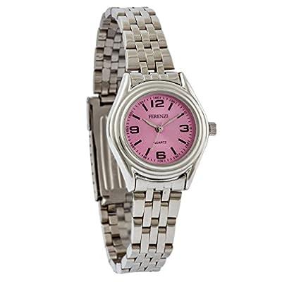Ferenzi Women's  Classic Thin Metal Small Pink Face Watch   FZ12901
