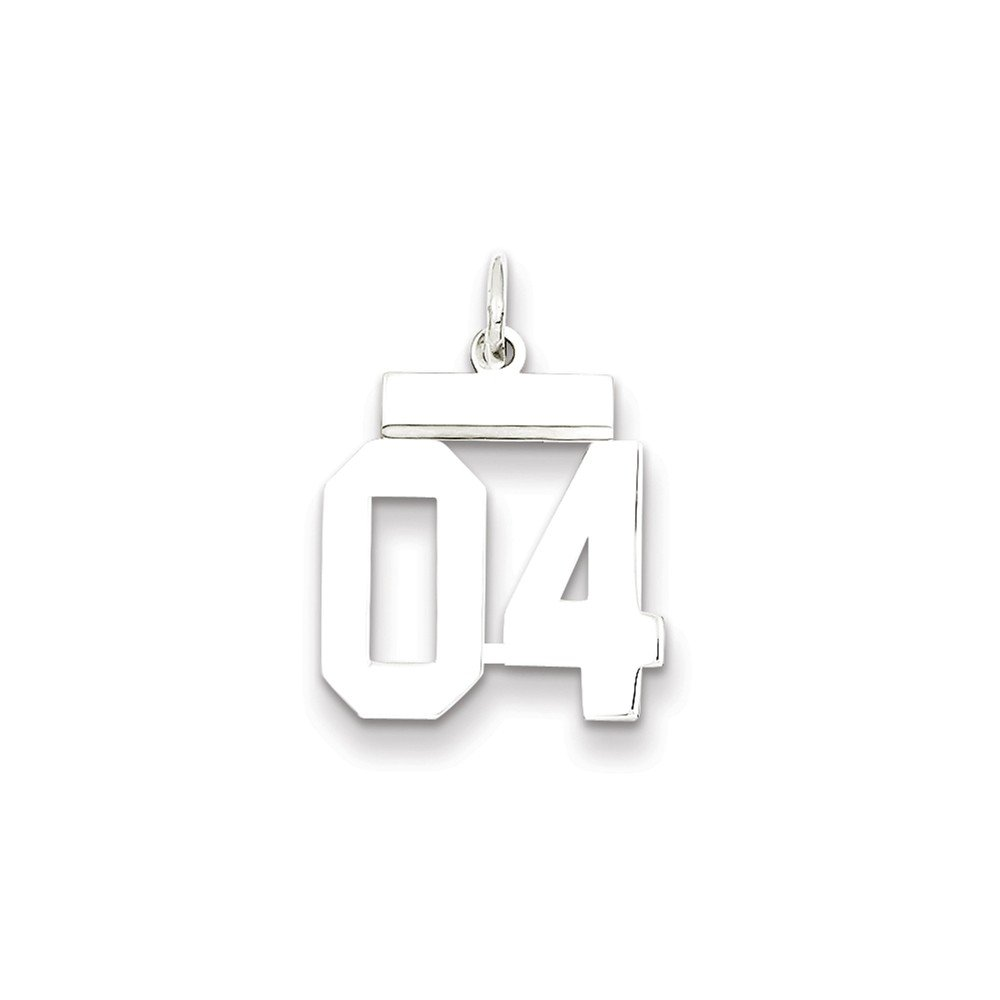Goldia Sterling Silver Small Polished Number 04 W//top