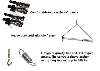 Sex Swing Fetish Toys,Umitering Luxury Heavy Duty Indoor Swing with Steel Triangle Frame and Spring for Fetish Sex Bondage Unisex, Durable Nylon Holds for Couple by Umitering (Image #3)