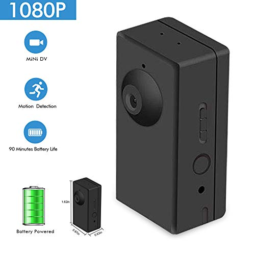 Nanny Camera Mini Video Recorder Battery Powered,Sdeter Portable Body Camera with Motion Detect, 90 Minutes Battery Life, Loop Recording Covert Security DVR Perfect for Home and Office