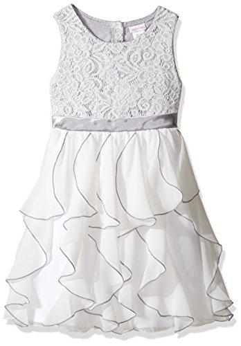 Youngland Little Girls' Lace to Chiffon Waterfall Dress, ...