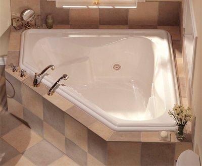 (Jacuzzi R235969 Gallery Corner Whirlpool Bath, Oyster)