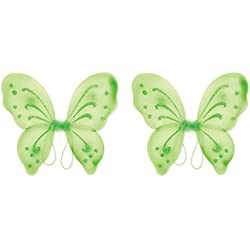 Beistle 60647-LG 2 Piece Nylon Fairy Wings, Lime Green