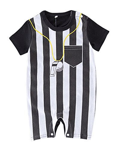 FANCYBABY Baby Toddler Referee Baseball Romper Shirt Outfit (9 to 12 Months, Referee)
