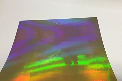 Holographic Oil Slick, Rainbow, Sign Vinyl, Self-Adhesive (Gold, 12 inch x 150 ft) by PS