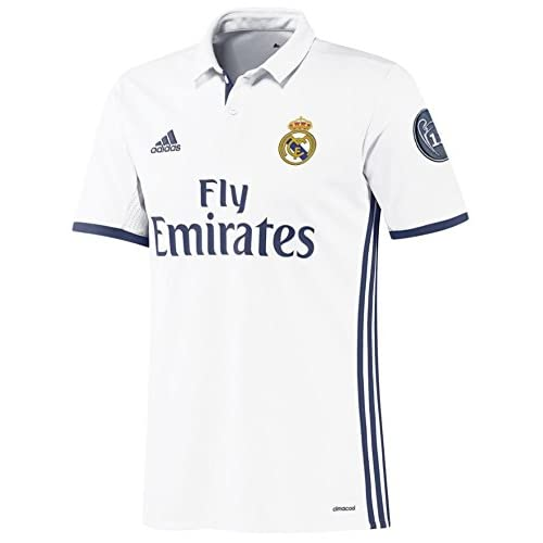 1072a0322 UCL BADGE REAL MADRID HOME NEW 2016-17 SOCCER JERSEY FOOTBALL SHIRTS chic