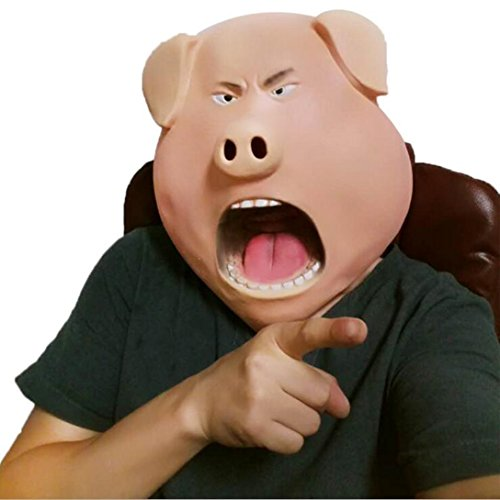 Cute Zombie Halloween Costume (Ru S Novelty Latex Halloween Costume Party Prop Animal Pig Head Mask)