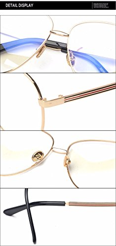 9fe22fd637b SojoS Aviator Clear Lens Metal Frame Men Women Glasses Eyeglasses Eyewear  SJ5004 With Black Frame Clear Lens - Buy Online in UAE.