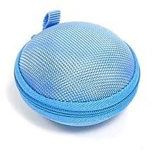 Bluecell Blue bluetooth handsfree headset HARD EVA Case/Bag for Jawbone ERA ICON HD & Plantronic Explorer 210 230 240 390 395