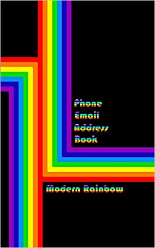Modern Rainbow Address Book: Phone Numbers and Email: Eastlund, Lois:  9781726744133: Books - Amazon.ca
