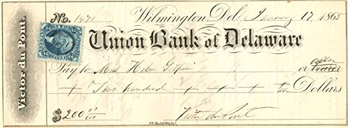Union Bank of Delaware signed by Victor (Dupont Bank)