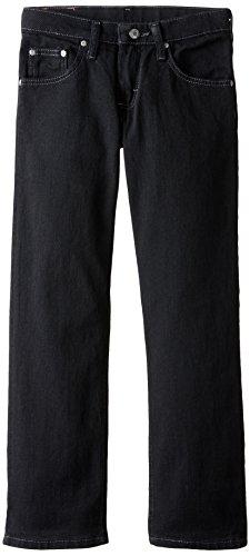 Lee Big Boys' Premium Select Straight Leg Jeans, Double Black, 10 Regular