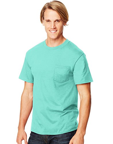 Hanes Beefy-T Adult Pocket T-Shirt, Clean Mint, 2XL US (Chest 50-52)