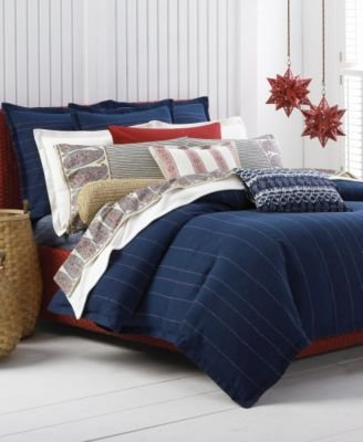 Ralph Lauren Spa ''Island Retreat'' Duvet Cover, Queen Navy Stripe