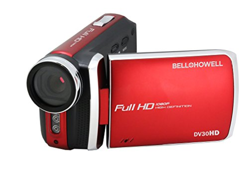 "Digital Camcorder - 3"" - Touchscreen LCD - Full HD - Red"