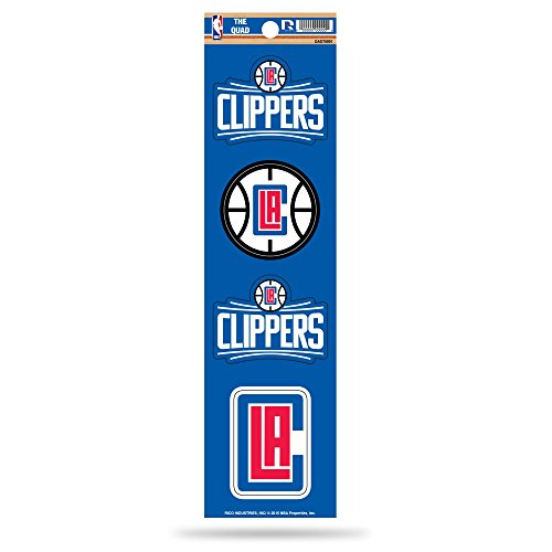 Rico Industries NBA Los Angeles Clippers Die Cut 4-Piece The Quad Sticker Sheet ()