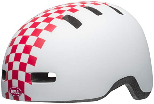Bell Lil Ripper Toddler Cycling Helmet - Kid's Checkers Matte White/Pink