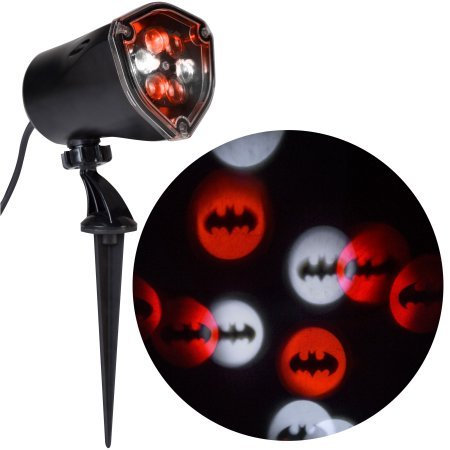 Batman Gemmy Lightshow 73554 Projection Whirl-A-Motion Light DC Justice League Halloween Fall Decoration (1) -