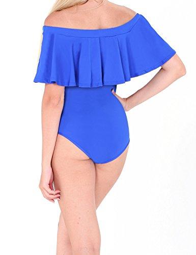 Liqy Bikini Conjunto Push Up para mujer Blue#6175