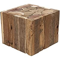 Side Coffee Tabble real Wood Driftwood solid heavy Stool new + Brillibrum Flyer, Table - Small
