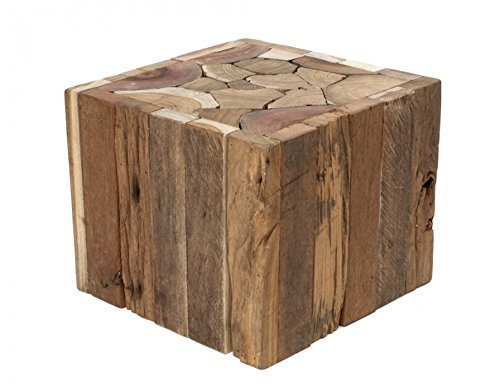 Side Coffee Tabble real Wood Driftwood solid heavy Stool new + Brillibrum Flyer, Table - Small (Coffee Teak Chest Table)