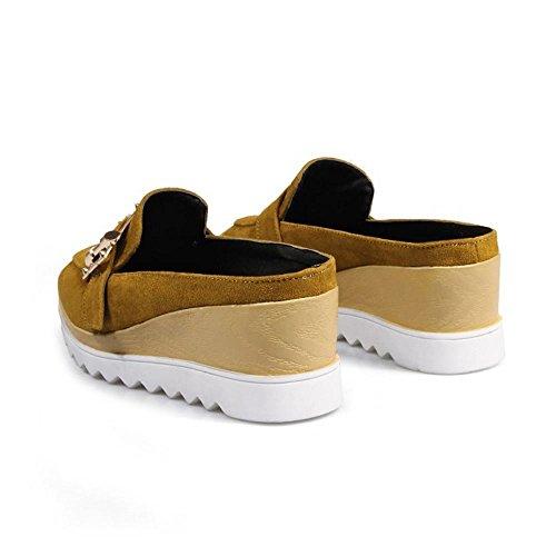Yellow TAOFFEN Femmes Compens¨¦ES Femmes TAOFFEN Chaussures xwSBBXdq8z