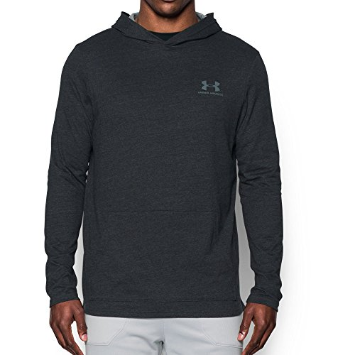 (Under Armour Men's Tri-Blend Hoodie, Asphalt Heather/Greyhound Heather, Large)