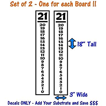 Select Color 2 EACH Cornhole Vinyl Decals For Scoreboards  ** FREE SHIPPING vr4