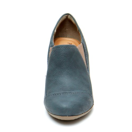 Picadilly Women's Mid Heel Booty 9 Blue