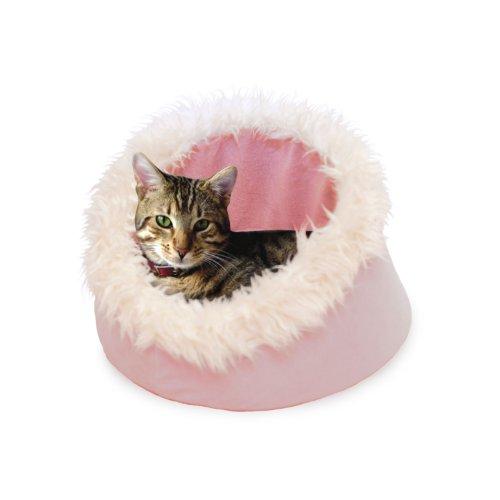 PETMAKER Feline Cat Comfort Cavern Pet Bed - Pink PETMAKER F