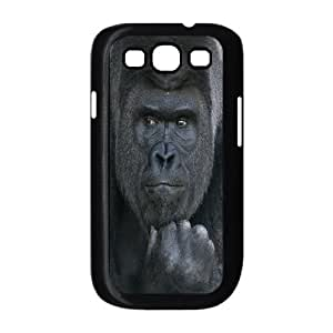 DIY Phone Case for Samsung Galaxy S3 I9300, Black Gorilla Cover Case - HL-703325