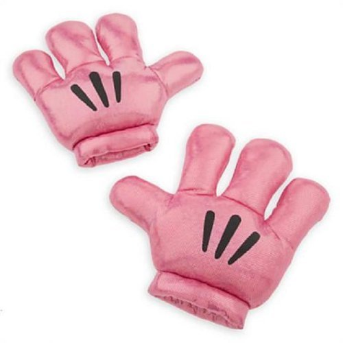 Mickey Minnie Mouse Disney Plush Gloves Hand Mitts Costume Pink Metallic]()