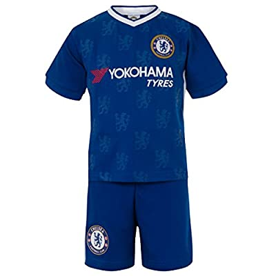 Chelsea Football Club Official Soccer Gift Boys Kids Kit Pajamas Blue