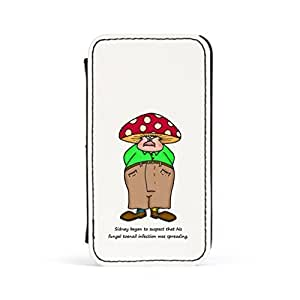 Fungal Toenail Premium Faux PU Leather Case, Protective Hard Cover Flip Case for Apple? iPhone 4 / 4s by Clive Gardner + FREE Crystal Clear Screen Protector