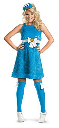 [Cookie Monster Sassy Adult Costume - Large] (Cookie Monster Headpiece)