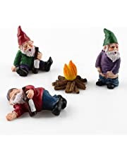 Tuinkabouters Set, Hungover Tuin Gnome, Tuinkabouters Beeldje, 4 Stks Mini Dwerg Gnome Standbeeld Tuin, Micro Landschap Beeldje Dronken Knoop Kit DIY Dwerg Beeldje Gazon Ornamenten Miniatuur Fairy Beeldjes