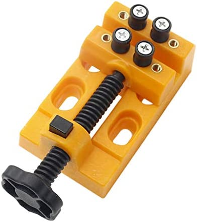 sharprepublic プラスチック バイス 万力 ベンチバイス ミニバイス ドリルプレス バイスクランプ 黄