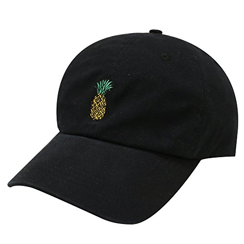 City Hunter C104 Pineapple Cotton Baseball Cap Multi Colors (Black)