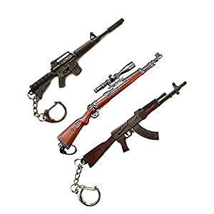 Best Combo of pubg Sniper Gun M4+K98+AKM Keychain india