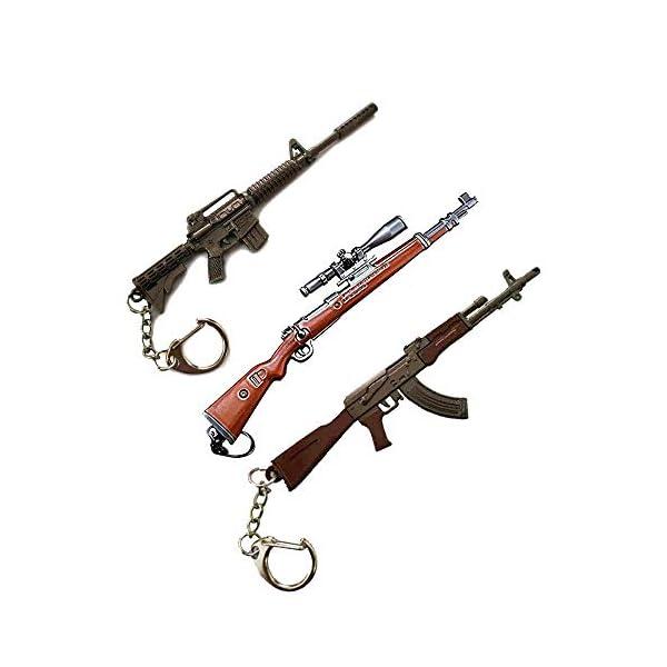 Best Combo of pubg Sniper Gun M4+K98+AKM Keychain india