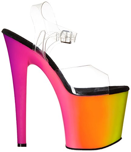 Pleaser RAINBOW-708UV Clr/Neon Multi Size UK 2 EU 35