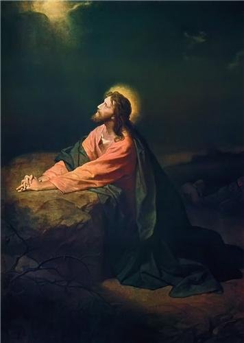- JESUS IN GETHSEMANE GLOSSY POSTER PICTURE PHOTO christ garden praying lord