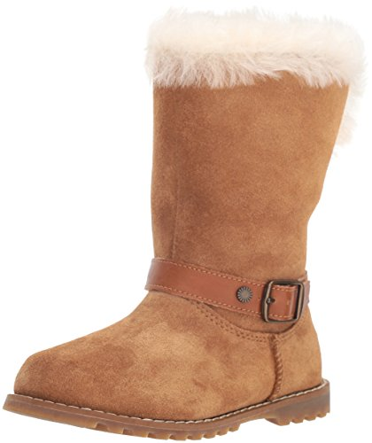 UGG Girls' T Nessa Fashion Boot, Chestnut, 7 M US Toddler ()