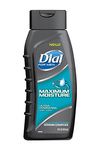 Dial for Men Body Wash, Maximum Moisture with Moisturizing Vitamin Complex, 16 Fluid Ounces (Pack of 6)