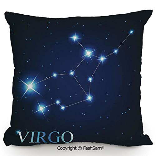 FashSam Polyester Throw Pillow Cushion Virgo Constellation Alignment of Stars Universe Themed Galactic Illustration for Sofa Bedroom Car Decorate(18