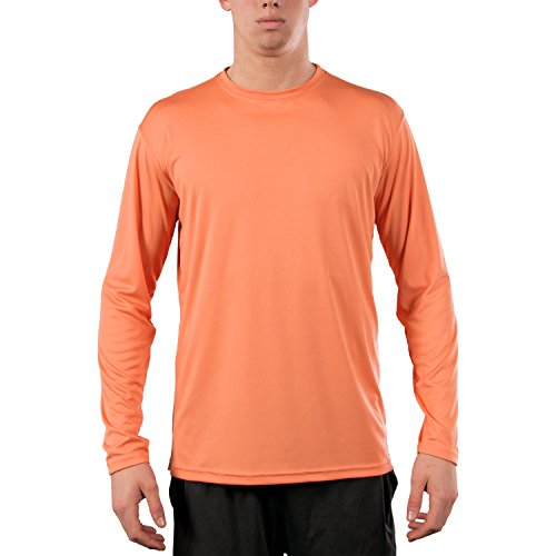 Vapor Apparel Men's UPF 50+ Long Sleeve UV (Sun) Protection Performance T-Shirt Small Citrus
